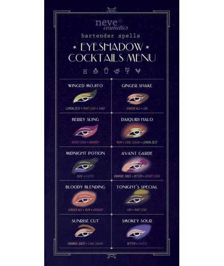 Bartender Spells makeup menu