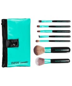 Set pennelli trucco per makeup professionale (7 pennelli e trousse)