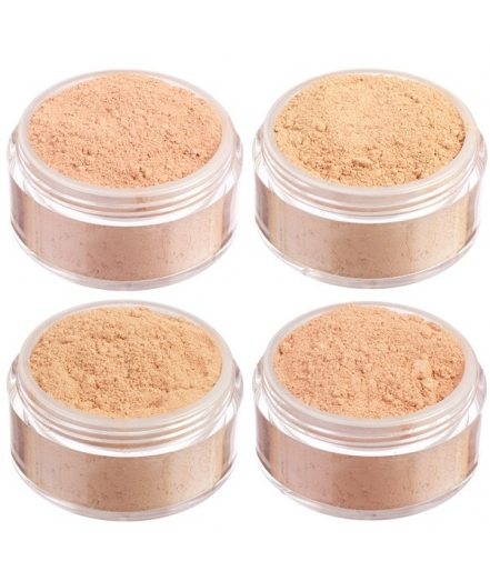 Dark skin mineral foundation mini set