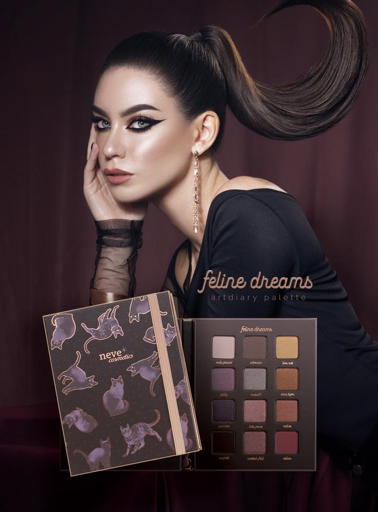 Feline Dream Neve Cosmetics, la prima ArtDiary palette