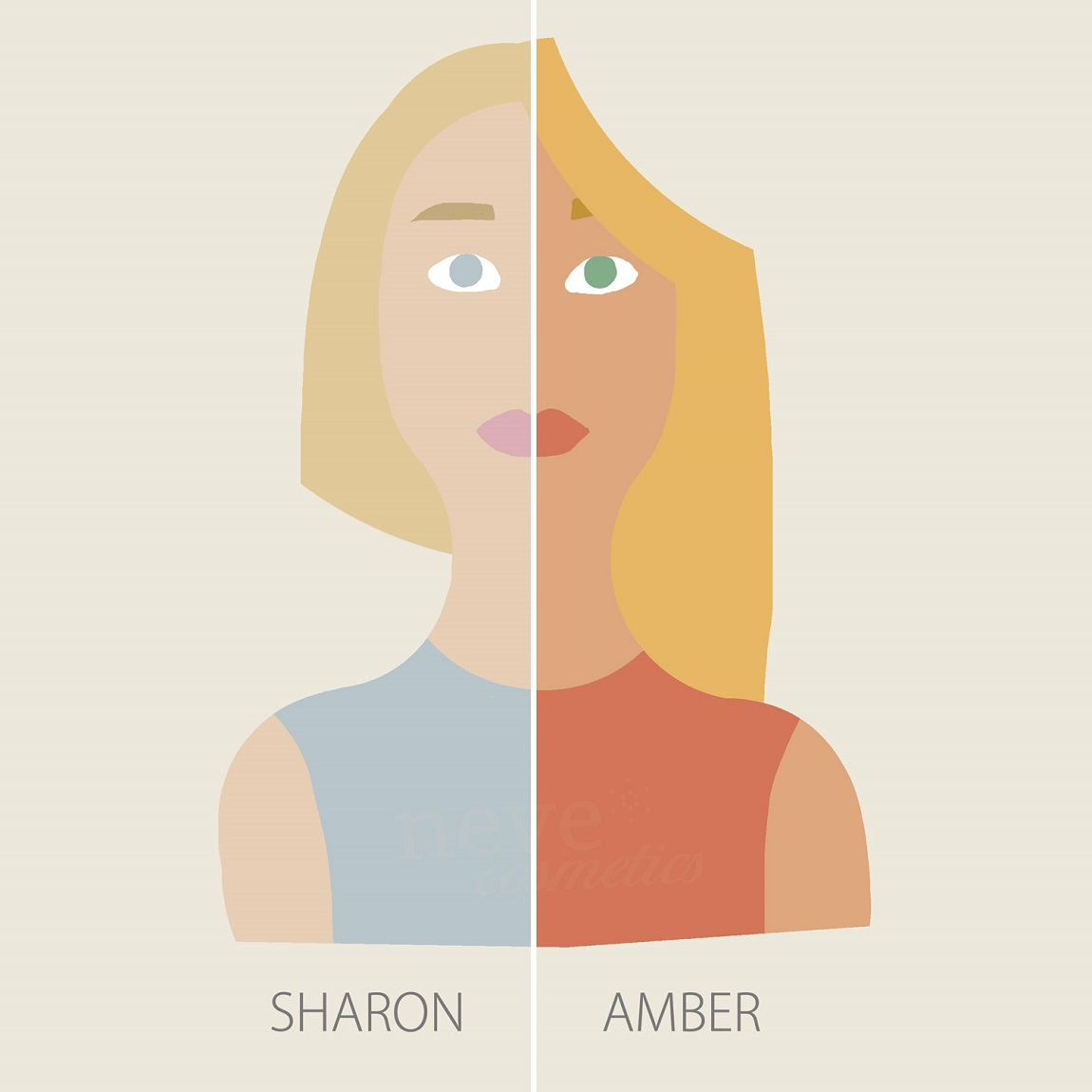 The temperature in armocromia: Sharon Stone and Amber Heard