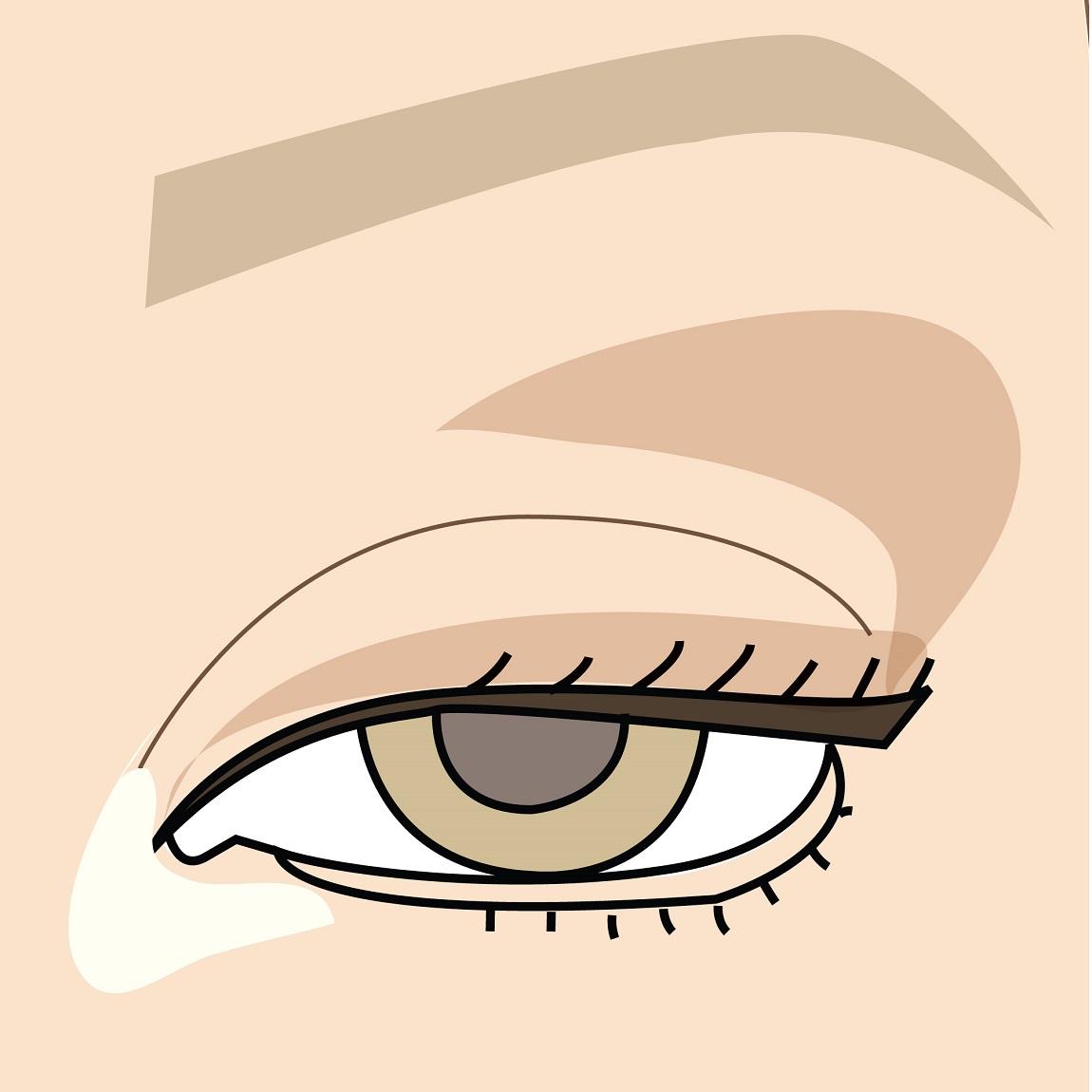 come si realizza il contouring degli occhi all'ingiù