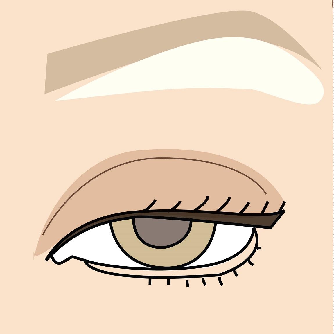 come si realizza il contouring degli occhi sporgenti