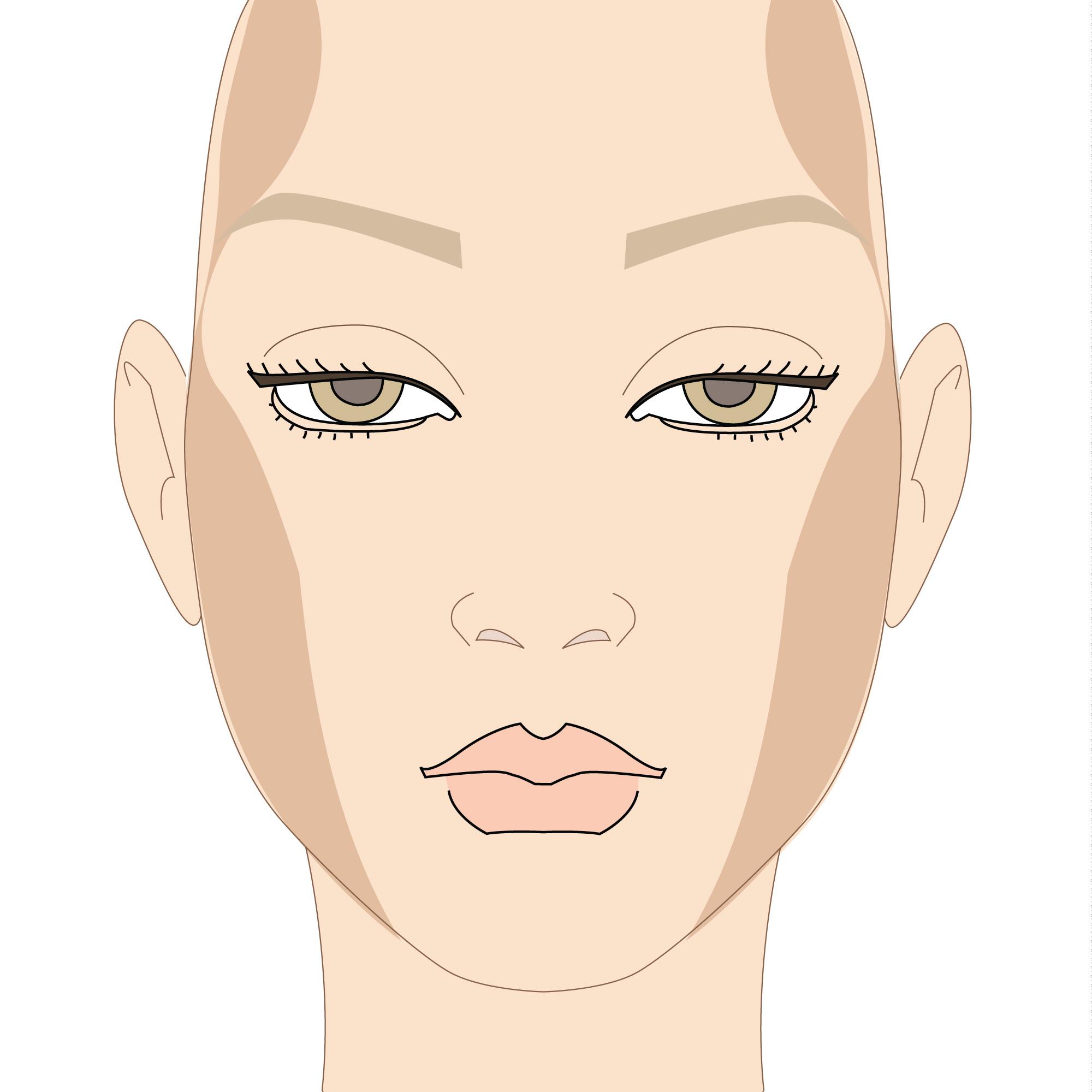 come si realizza il contouring del viso tondo