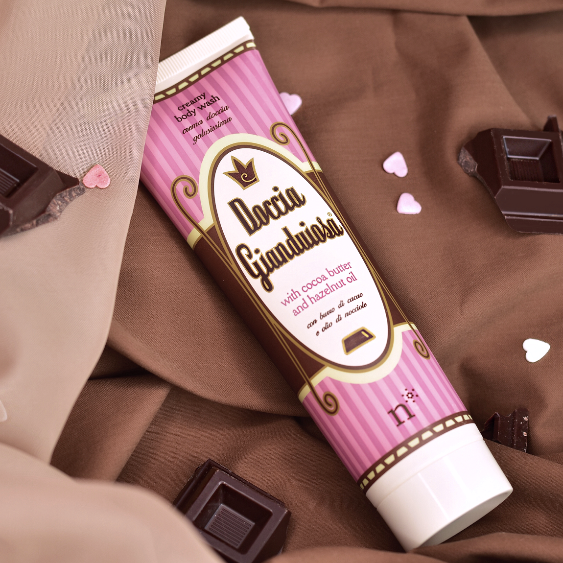Gianduiosa shower: the delicate shower bath that smells of chocolate