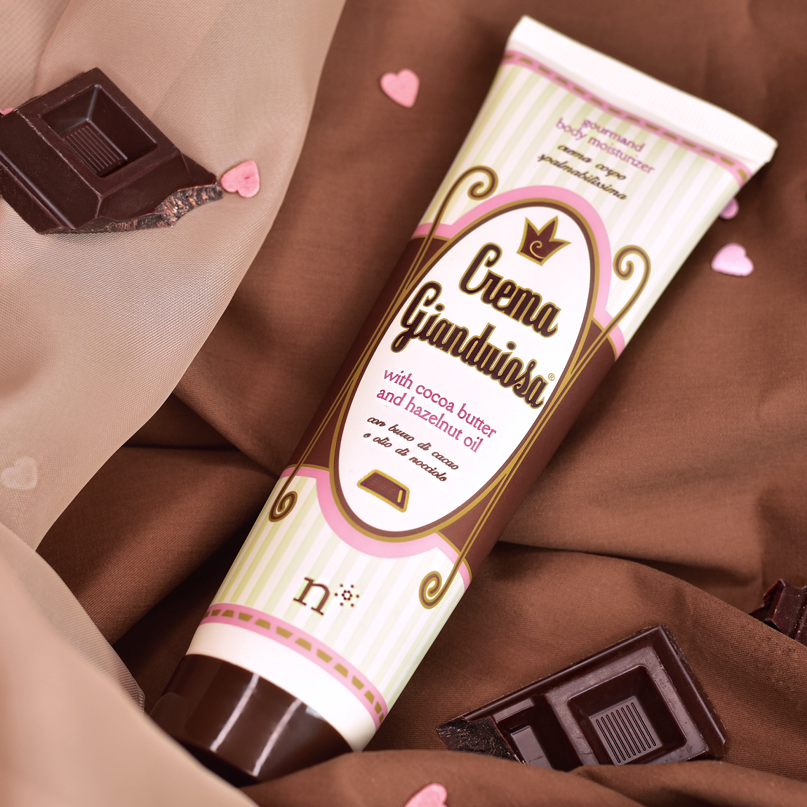 Gianduiosa cream, the moisturizer with cocoa butter for who loves chocolate!