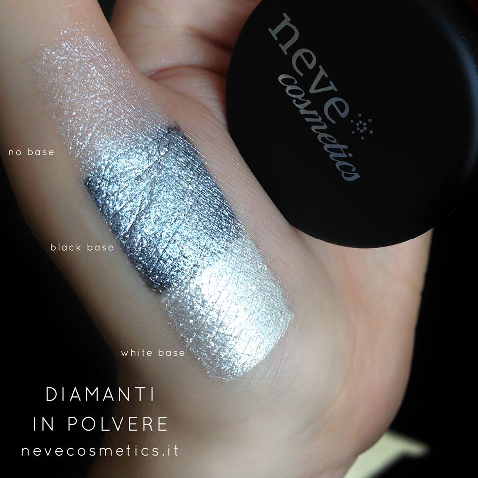 the bright silver eyeshadow diamonds in powder!