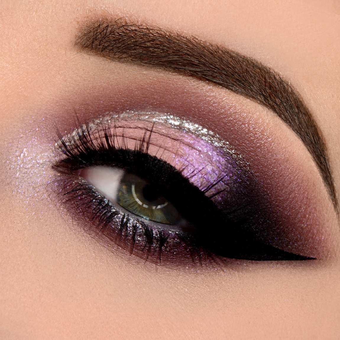 Idee makeup: pink and silver eye makeup