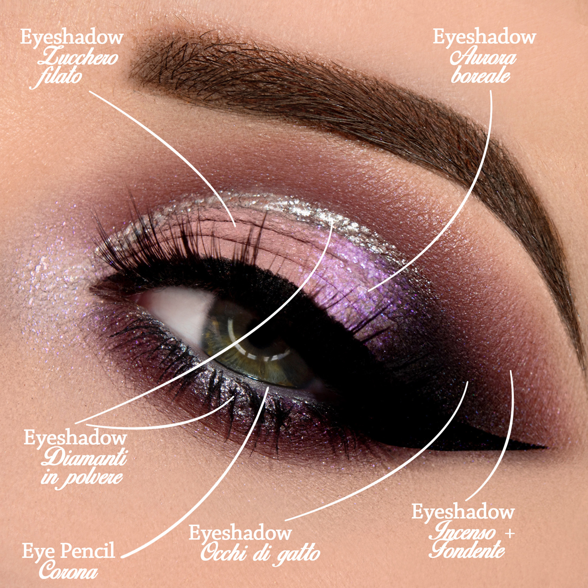Pink eye makeup and silver: the right products to make it