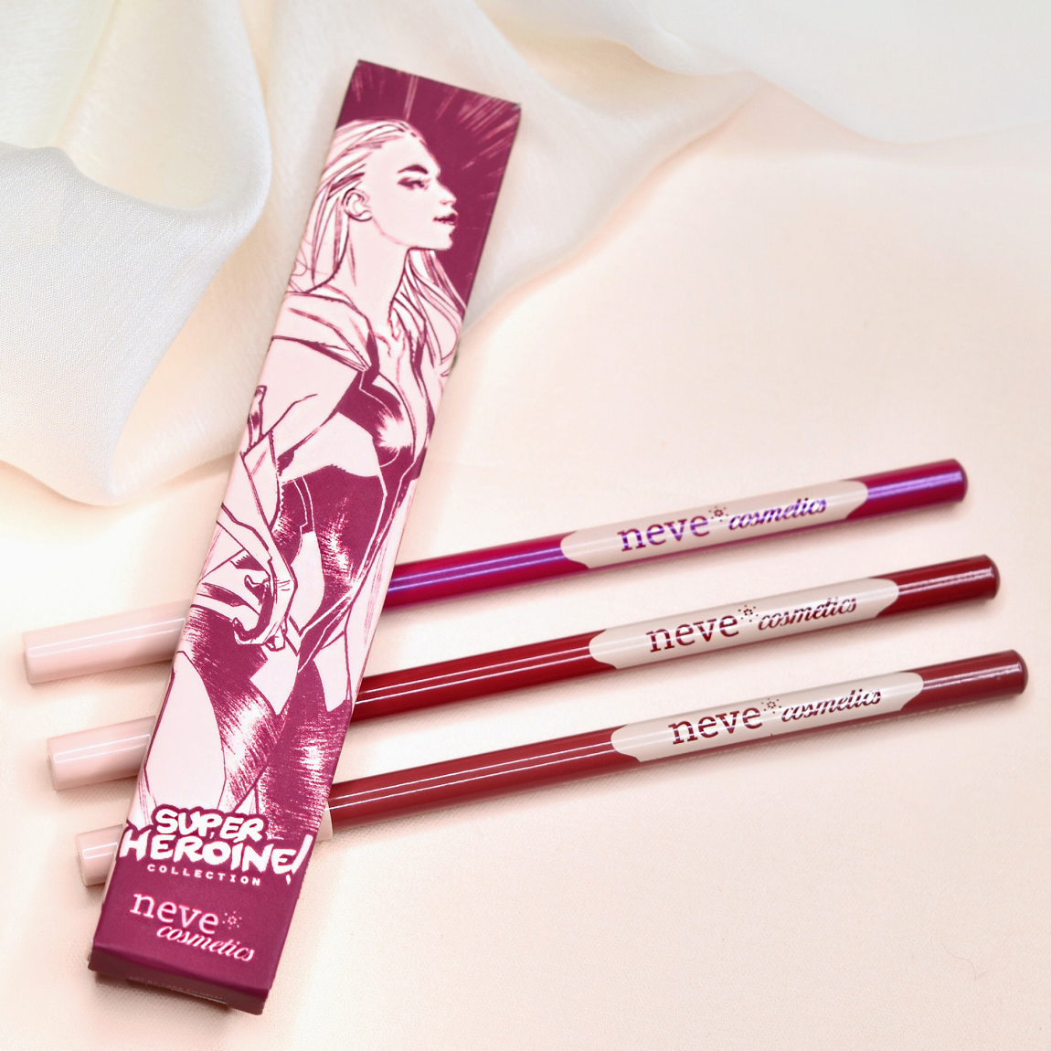 SuperHeroine collection: a collection of Pastel true heroine lips!