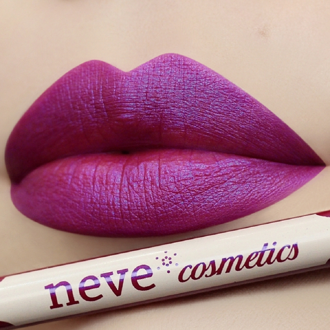 Pastel lips Trance: Fuchsia saturated with periwinkle blue interference dark.