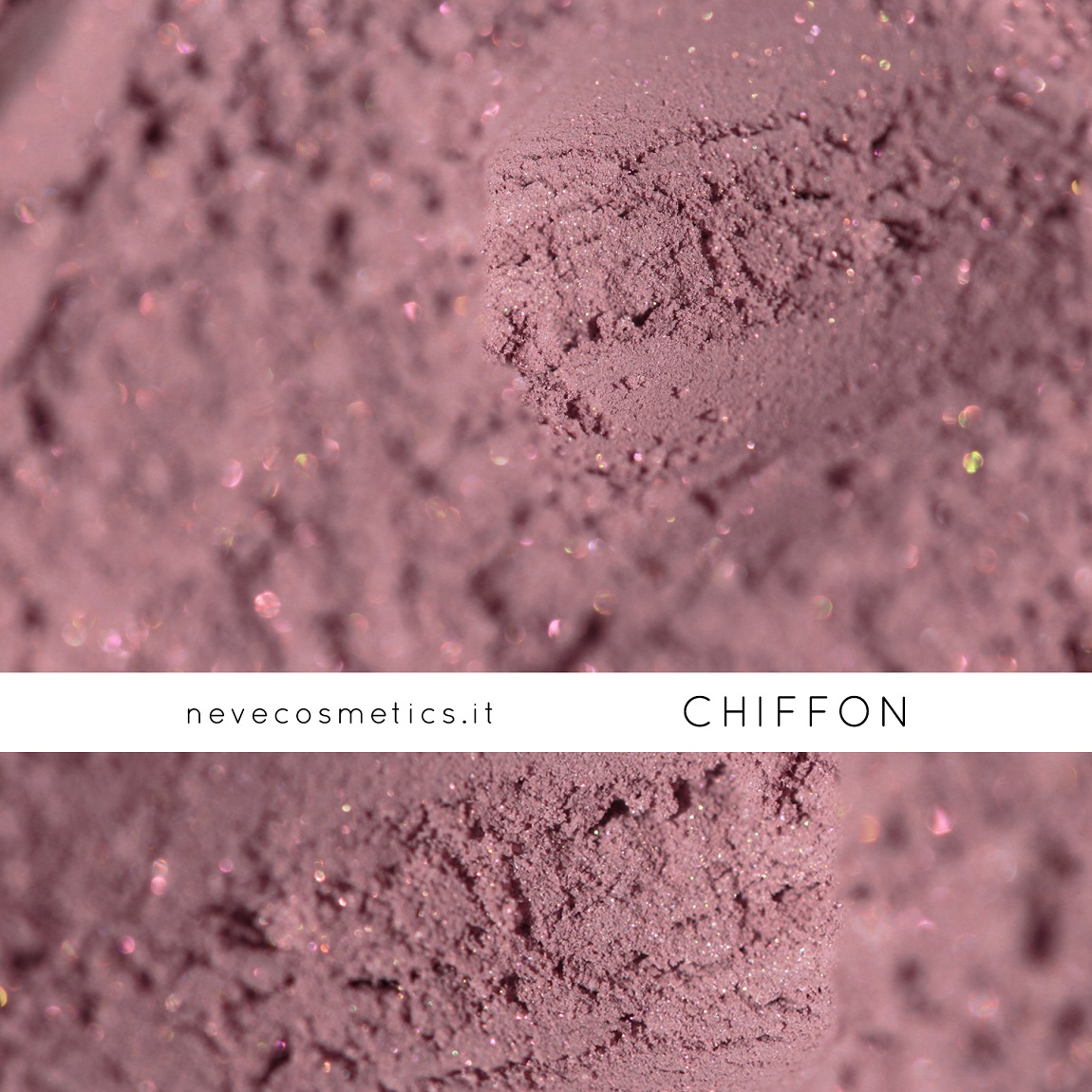 Mauve pink mineral eyeshadow : the beautiful Chiffon by Neve Cosmetics