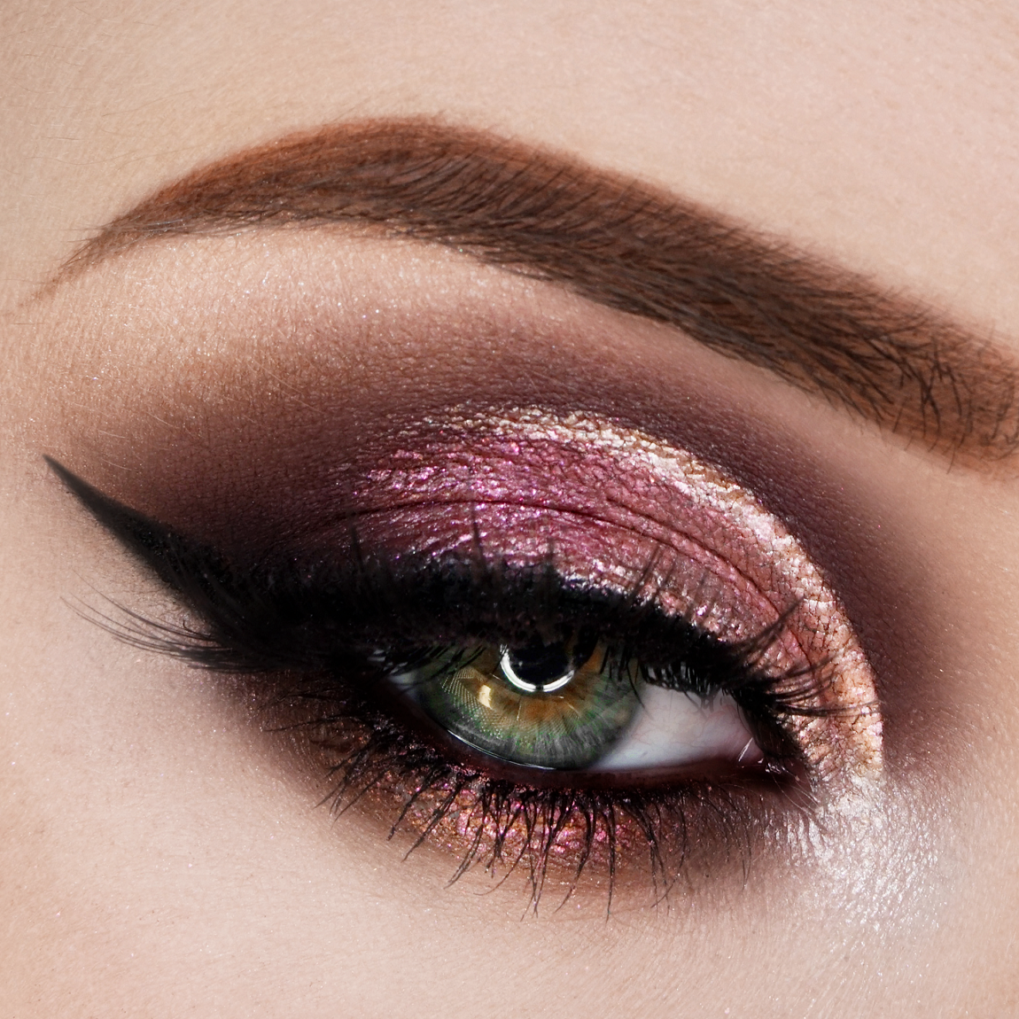 Spring eye make-up: discover the beauty of eye shadows rose and peach!