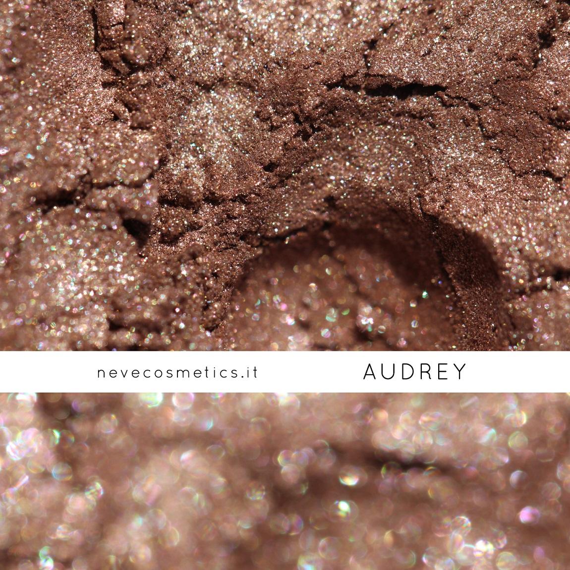 Audrey's Swatch, a bright hazelnut mineral eye shadow
